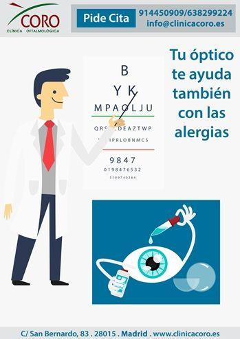 Detecta problemas oculares relacionados con la alergia